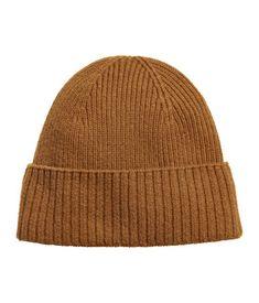 Ribbed Cashmere Hat   Camel   MEN   H&M US