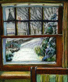 MARCIA MILNER-BRAGE  Snow, Again, Out Front Window