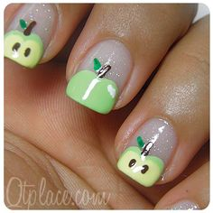 Apple nail art tutorial   # apple Nail Design, Nail Art, Nail Salon, Irvine, Newport Beach