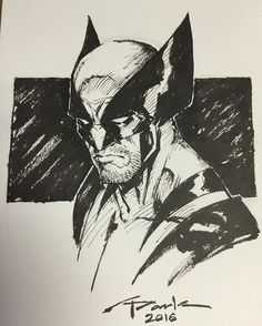 Another commission sketch. I could draw Wolverine all day long with or w/o his mask. He's always been one of my favs to draw. One of the best designed comic book characters. I would say alongside Batman & Spiderman. Total icons! #icon #wolverine #inktober