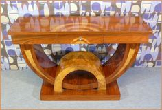 I chose this because you never see tables like this anymore 1920's Art Deco  furniture