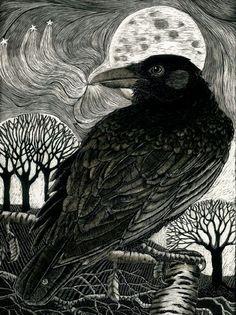 Raven Moon - KayLeverton on Etsy