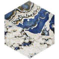 "Found it at AllModern - Agato 8.63"" x 9.88"" Porcelain Mosaic Tile in Blue/White"