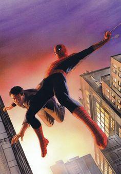 Alex Ross (1970) Ilustrador y dibujante de historietas estadounidense.- Spider-Man