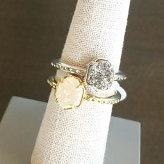 2 of the Calvin rings arrived... #kendrascott #drusy #jewelry