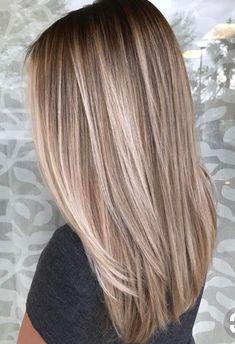 Long layered blonde haircut