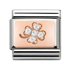 Nomination Rose Gold - Clover With Cubic Zirconia Charm 430302 02