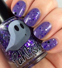 Pahlish October monthly duo Twilight Sky, glitter topper available, used 1 mani fill line at shoulders $10 shipped