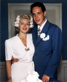 Lana Turner & Stephen Crane - WEDDING DAY