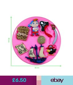Baking Accs. & Cake Decorating Pirate Treasure Island Ship Parrot Silicone Mould By Fairie Blessings #ebay #Home & Garden