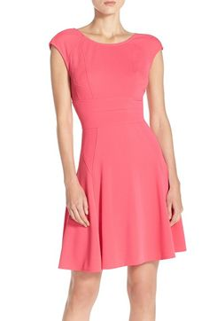Julia Jordan Cap Sleeve Fit & Flare Dress available at #Nordstrom