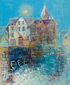 Kanita Sim painting of Stonehaven harbour.   Just love her work