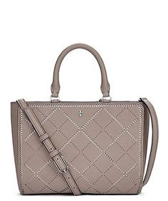 Robinson Crosshatch Small Zip Tote - Grey/Ivory