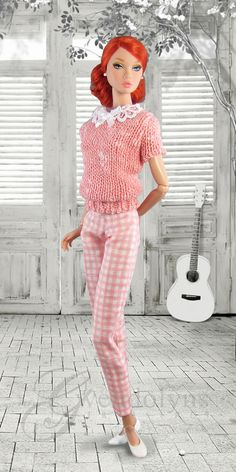 GINGHAM BEATNIK Fashion for Poppy Parker and Victoire dolls