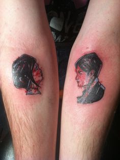 """I got this tattoo a few week ago by Kaitlin Hess in Connellsville, PA. It's the album cover from My Chemical Romance's album """"Three Cheers for Sweet Revenge"""". The album changed my life, and gave me a whole new perspective on music, life, drugs and alcohol, and relationships. Gerard Way will always be one of my greatest heros and what better way to pay tribute to him than get his artwork ink'd on me!?"""