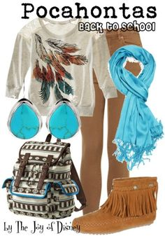Back to School casual outfit inspired by Pocahontas!