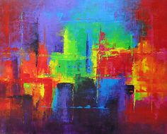 Abstract painting 486011 by Martin Figlinski Acrylic ~ 48 x 60 $2500