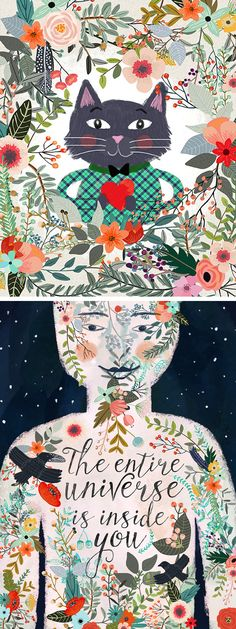 """""""The entire universe is inside you."""" Illustrations by Mia Charro"""