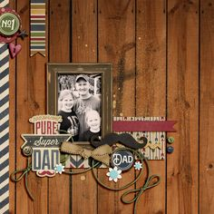 Shabby Miss Jenn Designs Love Your Dad collection -page by Julie L.