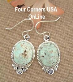 Four Corners USA Online - Dry Creek Turquoise Sterling Earrings Navajo Artisan Shirley Henry Native American Jewelry NAER-1433, $262.00 (http://stores.fourcornersusaonline.com/dry-creek-turquoise-sterling-earrings-navajo-artisan-shirley-henry-native-american-jewelry-naer-1433/)