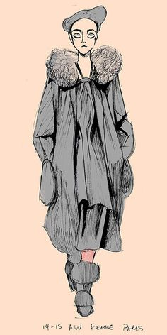 Yohji Yamamoto Sketches