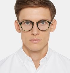 2140f2be868 Bottega Veneta - Round-Frame Acetate Optical Glasses