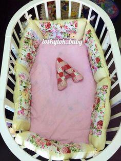 Купить Детское постельное белье - комбинированный, бортики, буква, детское белье, детские комплекты