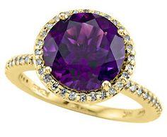 Effy Collection Amethyst Diamond Gold Ring ►► http://www.gemstoneslist.com/jewelry/gold-amethyst-rings.html?i=p