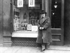 Author Zane Grey at book signing event at bookstore.