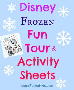 Disney Frozen Printable Activity sheets for kids.