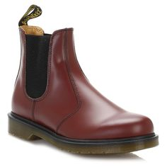 Dr. Martens Cherry Red 2976 Leather Chelsea Boots