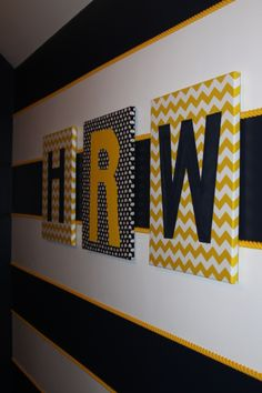 Navy and Yellow Nursery if I ever have another boy