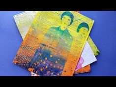 Magazine Resist Technique for the Gelli Plate - YouTube