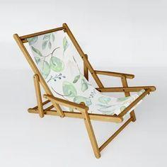Euculyptus Pattern Sling Chair Patio Chairs, Outdoor Chairs, Outdoor Furniture, Outdoor Decor, High Chairs, Beach Chairs, Dining Chairs, Cat Doodle, Folding Stool