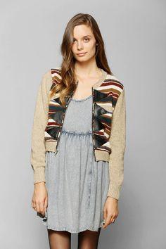 Urban Renewal Triangle Zip Sweater #UrbanOutfitters