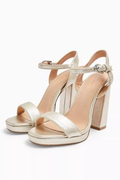 These gorgeous and metallic silver platform heels with open toe and buckle strap detailing are the perfect companion for any girls night out. Heel height approximately Upper: Polyester. Branded Bags, Shoe Shop, Girls Night Out, Accessories Shop, Open Toe, Shoes Sandals, Asos, Topshop, Platform