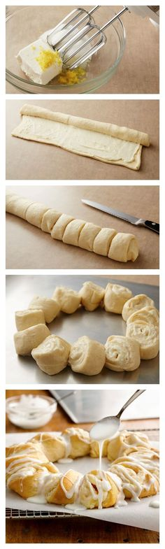 Lemon-Cream Cheese Crescent Ring Recipe