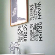 Bathroom on pinterest bathroom wall art stickers and - Stickers salle de bain pas cher ...