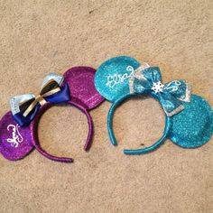 Anna from disneys frozen inspired mickey ears by BrookeHyland345, $20.00