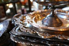 Antique Silver Trays | Rolling Greens
