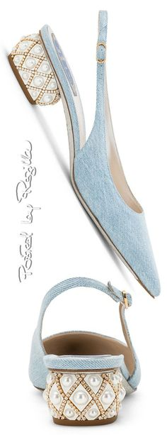 Posted by Regilla ⚜ René Caovilla Mint Green Fashion, Blue Fashion, Fashion Shoes, Rene Caovilla, Perfect Jeans, Blue Dream, Love And Light, Beautiful Shoes, Shades Of Blue