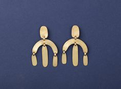 CALDER CURVE EARRINGS24kt Gold Plated Silver