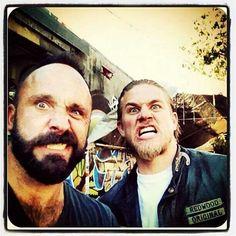 Charlie Hunnam ...SOA Sons of Anarchy .... Chucky (nubs) and Jax