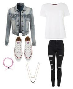 """""""Casual Wear"""" by foglemanmary on Polyvore featuring Topshop, Converse, LE3NO, Michael Kors, MaxMara, women's clothing, women's fashion, women, female and woman"""