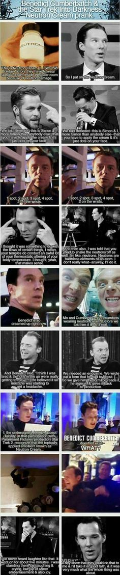 Benedict Cumberbatch andThe Adventure of the Neutron Cream