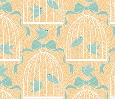 """A Bird Song""...i LOVE this textile design  Designer : vo_aka_virginiao on Spoonflower"