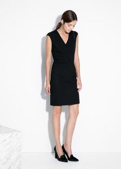 Mango black dress 2015