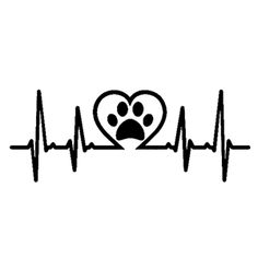 Paw Print in heartbeat vinyl decal window dog cat pet animal family love Dog Silhouette, Silhouette Projects, Silhouette Design, Chihuahua Tattoo, Dog Tattoos, Tatoos, Vinyl Designs, In A Heartbeat, Cat Art