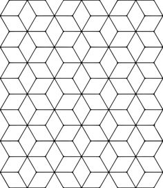 Tessellation with Rhombus coloring page from Tessellations category. Select from 31983 printable crafts of cartoons, nature, animals, Bible and many more. Mc Escher Tessellations, Tessellation Patterns, Blackwork Patterns, Tile Patterns, Pattern Art, Pattern Coloring Pages, Free Printable Coloring Pages, Free Coloring Pages, Colouring Pics