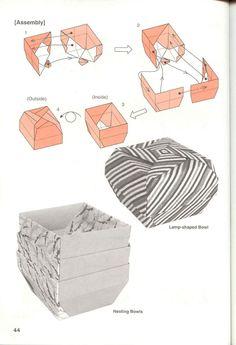 ADOBRACIA: Diagrama Do Origami Modular De Caixa Lamp-Shaped Bowl